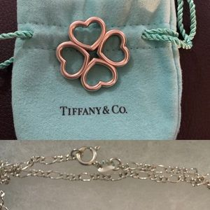 Authentic Rare Tiffany & Co 4 Heart Clover Pendant